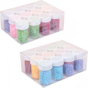 Блёстки-звездочки (глиттер) 144г 6 цветов 12шт. в упаковке (цена за 1 шт.)