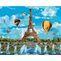 Картина за номерами Ідейка місто кохання 40х50 см пензлі + фарби в комплекті