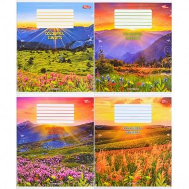 Зошит кольорова 96 аркушів, лінія «захід»