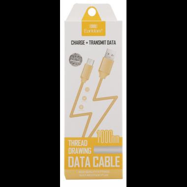 кабель передачі даних Earldom iphone, золотий