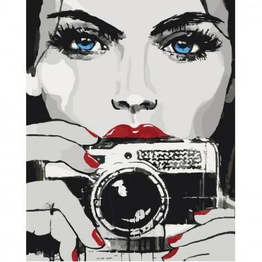 Картина за номерами ідейка Яскравий погляд 40х50см пензлі + фарби в комплекті