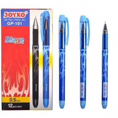 Ручка гелева GP-191 JOYKO 12 штук, синя