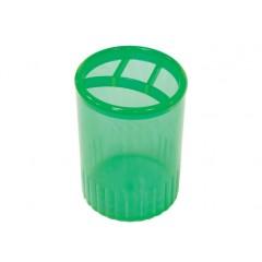 Подставка для ручек на 4 отделения Economix, пластик, зеленая