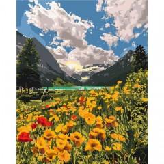 Картина за номерами  Величні Альпи  40*50см пензлі + фарби в комплекті