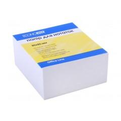 Бумага для заметок 80х80 мм Economix, 500 л., Проклеен, белый E20995