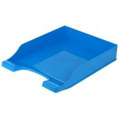 """Лоток для паперів горизонтальний """"Симетрія"""" Economix, пластик, блакитний непрозорий"""