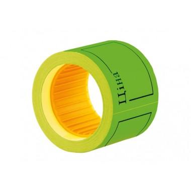 """Етикетки-цінники """"Ціна"""" 50х40 мм Economix, 100 шт / рул., Зелені E21307-04"""