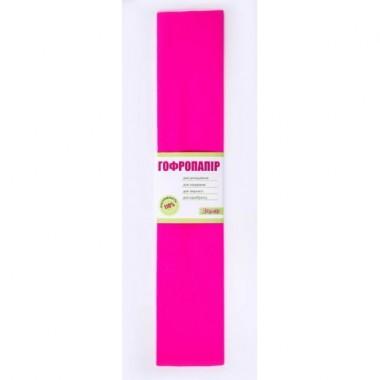 Папір гофрований 1вересня темно-рожевий 110% (50см * 200см)