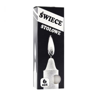Свічки столові парафінові Swiece stolowe 190мм/20мм