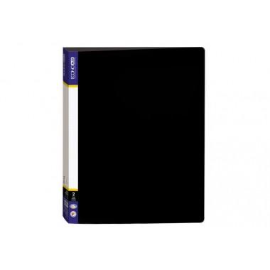 Папка пластиковая А4 Economix на 2 кольца, черная