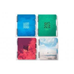 """Блокнот The Elements"""" с разделителями 175х206 мм, пластиковая обложка с декоративной высечкой"""