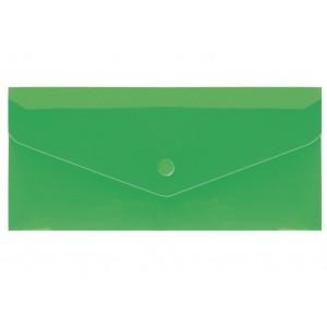 """Евроконверт Е65 прозрачный на кнопке, 180 мкм, фактура """"глянец"""", зеленый N31306-04"""