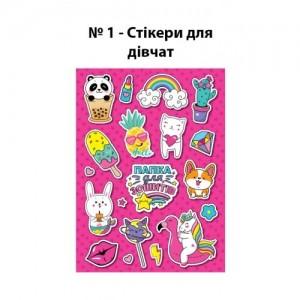Папка для тетрадей №1 стикеры для ДЕВОЧЕК на резинке В5
