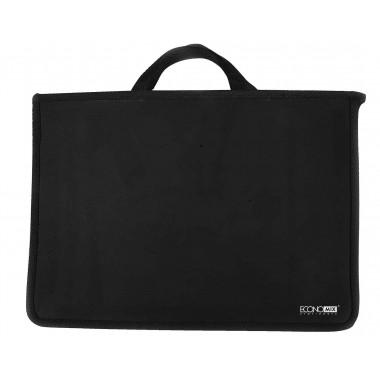 Портфель пластиковый А4 Economix на молнии, 2 отделения, черный