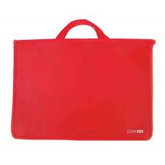 Портфель пластиковий А4 Economix на блискавці, 2 відділення, червоний