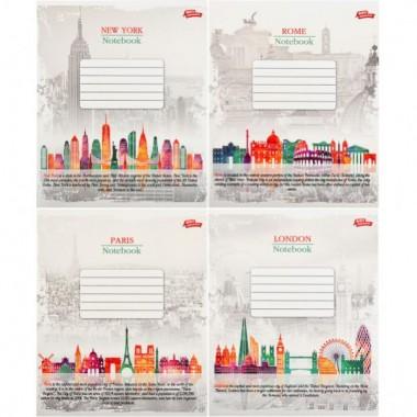 Зошит кольорова 36 аркушів, лінія «Векторні міста»