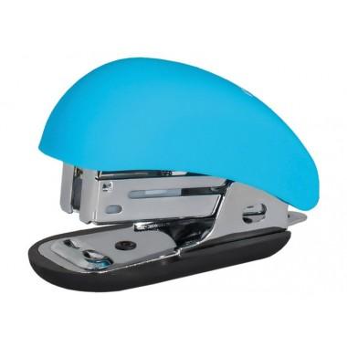 Степлер №24/6, 26/6 Optima, до 12 л, Soft Touch, пласт. корпус, блакитний O40263-11