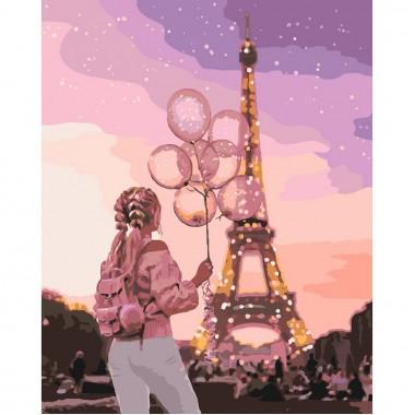 Картина за номерами Ідейка місто романтики 40 * 50 см кисті + фарби в комплекті