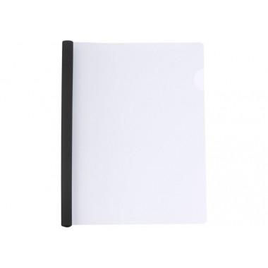 Папка А4 Economix с планкой-зажимом 6 мм (2-35 листов), черная