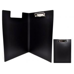 Папка-планшет А4 с прижимом Economix, пластик, черная