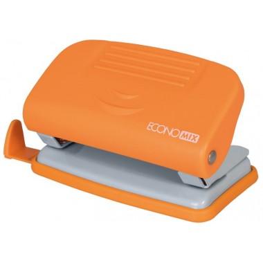 Дырокол до 10 л., Economix, пласт. корпус, с линейкой, оранжевый E40133-06