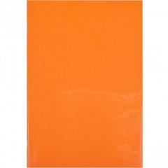 Блокнот А4 Графика 60л., клетка, пласт.обл., скоба оранжевый