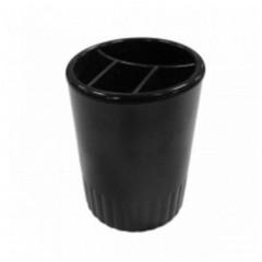Подставка для ручек на 4 отделения Economix, пластик, черная