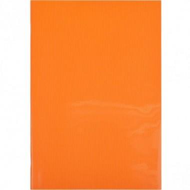 Блокнот А4 Графіка 60л., клітка, пласт.обл., скоба помаранчевий