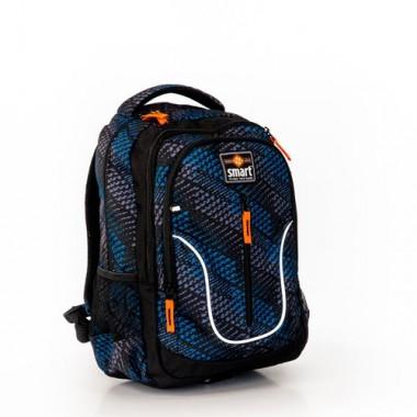 Рюкзак шкільний SMART TN-07 Global, чорн/син