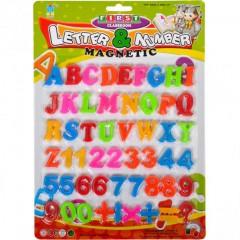 Английские буквы, цифры и знаки на магните 20,5*28,5см