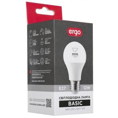 Lamp ERGO Basic A60 E27 12W 220V Нейт.Бел. 4100K Мат. н/Дим.