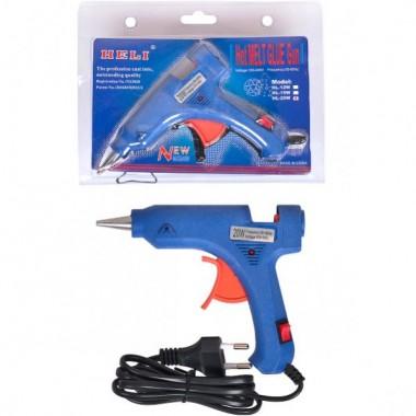 """Пістолет для сухого клею """"HELI"""" синій 20W D - 0,7 мм 13,5*11*2,5 см"""