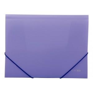 """Папка пластиковая А4 на резинках Economix, фактура """"апельсин"""", фиолетовая"""