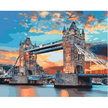 Картина за номерами Ідейка міський пейзаж Лондонський міст 40 * 50 см пензлі + фарби в комплекті