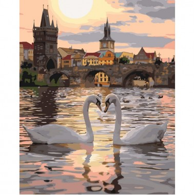 Картина по номерам Идейка Романтическая Прага 40 * 50 см кисти + краски в комплекте