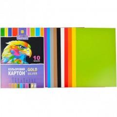 Цветной картон А4 10 листов №2