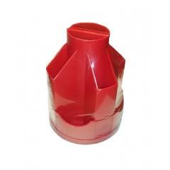 Подставка настольная В21, вращается на 360 °, пластик, красная
