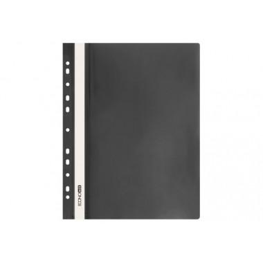 "Папка-швидкозшивач А4 Economix з перфорацією, фактура ""глянець"", чорна E31510-01"