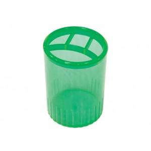 Підставка для ручок на 4 відділення Economix, пластик, зелена
