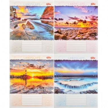 Зошит кольорова 36 аркушів, лінія «Пейзажі»