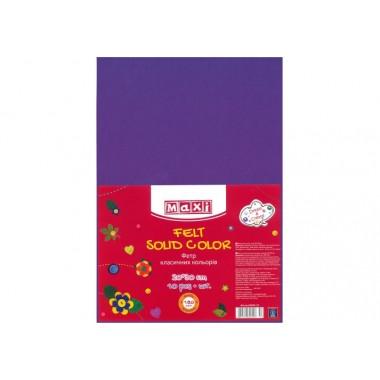 Фетр листовий (поліестер), 20х30см, 180г / м2, фіолетовий