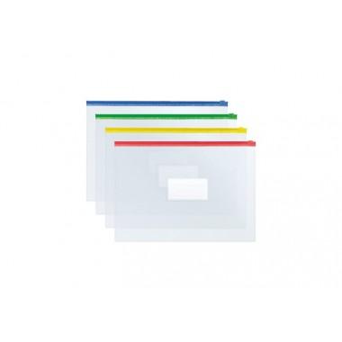 Конверт на молнии, А4, прозрачный E31322