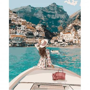 Картина за номерами Подорож на яхті  40*50см