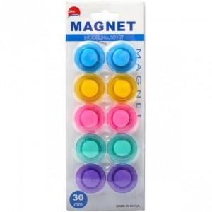 """Магнит для доски """"цветной"""" 10 штук D3см"""
