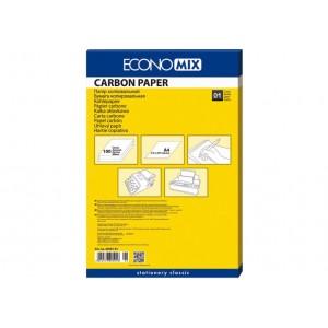 Папір копіювальний А4 Economix, 100 арк., синій