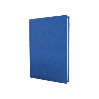 Дневник датированный 2019, Текстиль, синий, А5