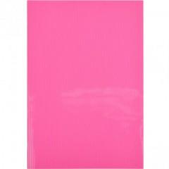 """Блокнот А4 """"Графика"""" 60л., клетка, пласт.обл., скоба розовый"""