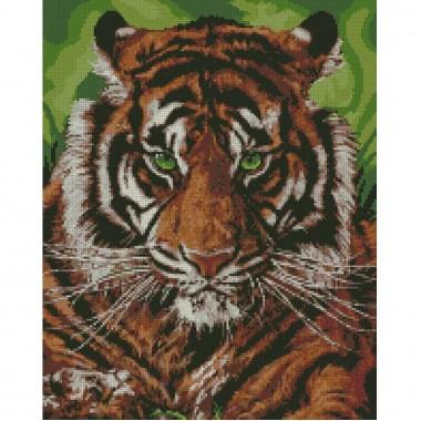 Алмазна вишивка Непереможний тигр 40 * 50см
