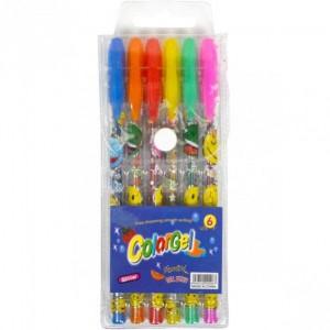 Набір ручок ароматизованих гелевих 6 кольорів