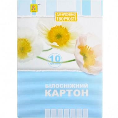 Белый картон А5 10 листов